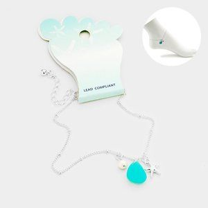 1/2 OFF Sea Glass Starfish Pearl Charms Anklet